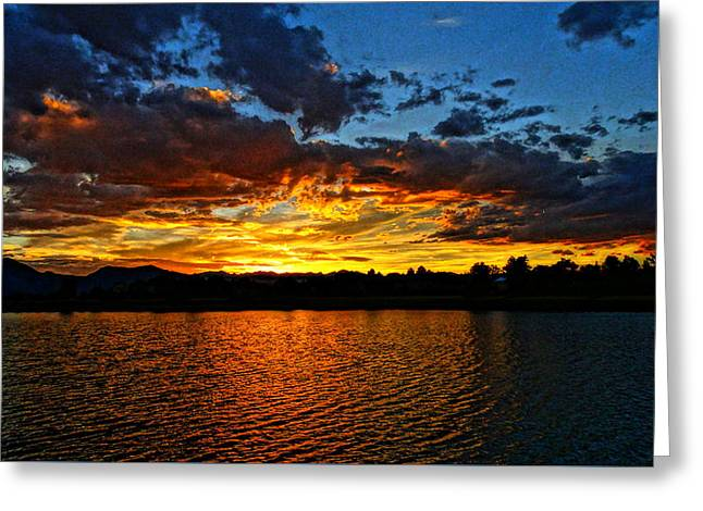 Greeting Card featuring the photograph Sweet End Of Day by Eric Dee