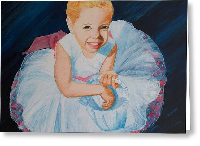 Sweet Flower Girl Greeting Card by Alicia Fowler