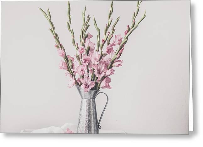 Sweet Gladiolus Greeting Card by Kim Hojnacki