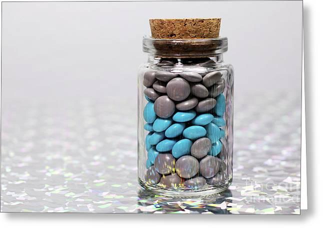 Sweet Happy Pills Greeting Card by Afrodita Ellerman