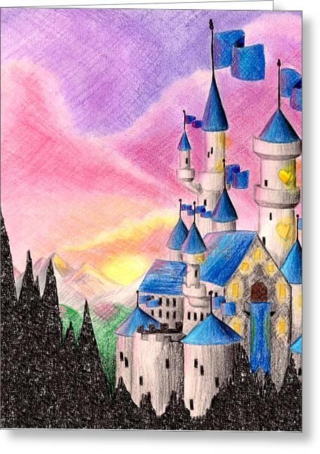 Sweet Heart Castle Greeting Card by Scarlett Royal