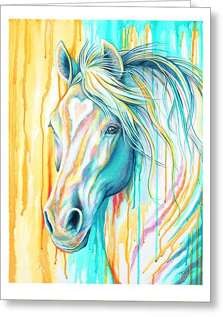 Sweet Heart Horse Greeting Card