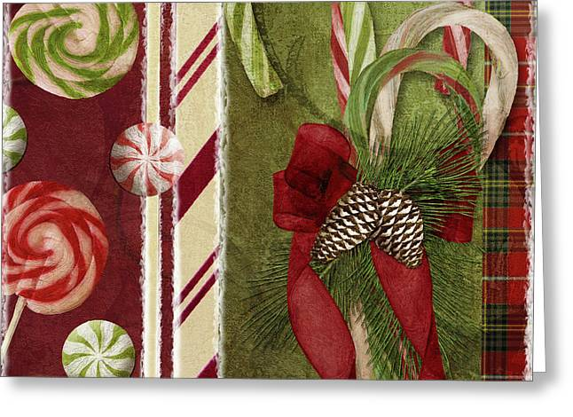 Sweet Holiday I Greeting Card by Mindy Sommers