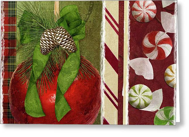 Sweet Holiday II Greeting Card by Mindy Sommers