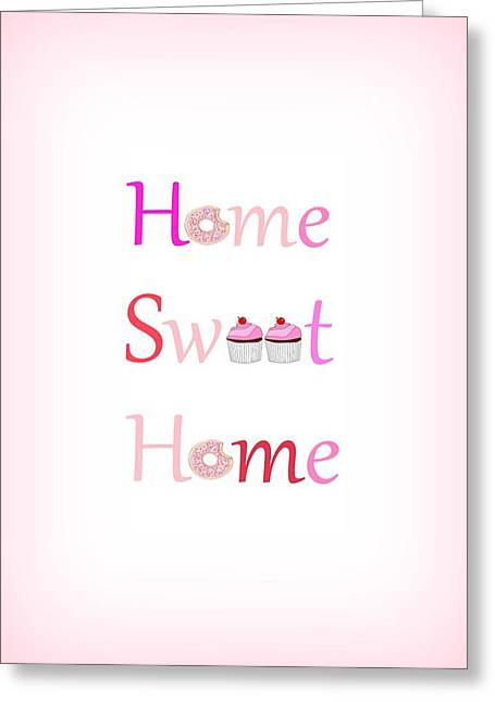 Sweet Home - Typography Greeting Card