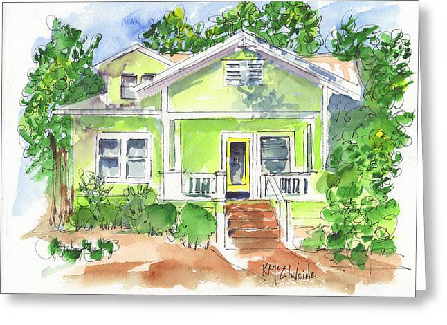 Sweet Lemon Inn Greeting Card by Kathleen McElwaine