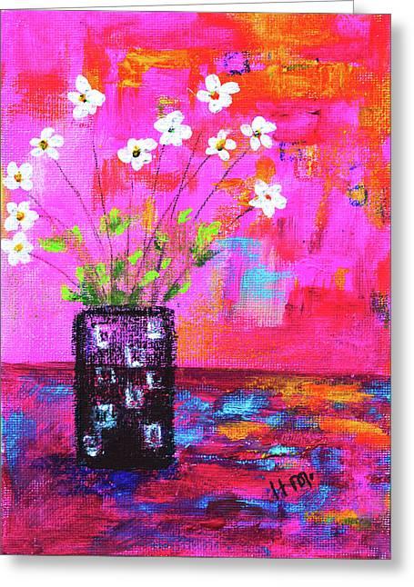 Sweet Little Flower Vase Greeting Card