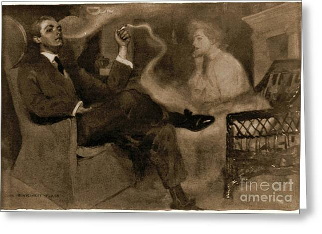 Sweet Magic Of Smoke 1903 Greeting Card