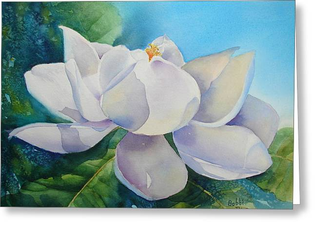 Sweet Magnolia Greeting Card by Bobbi Price