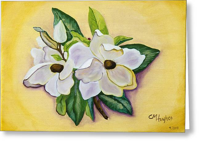 Sweet Magnolias Greeting Card by Christie Nicklay