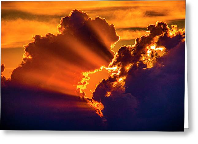 Greeting Card featuring the photograph Sweet Nebraska Crepuscular Rays 010 by NebraskaSC