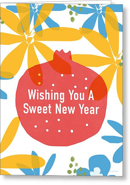 Sweet New Year Card- Art By Linda Woods Greeting Card
