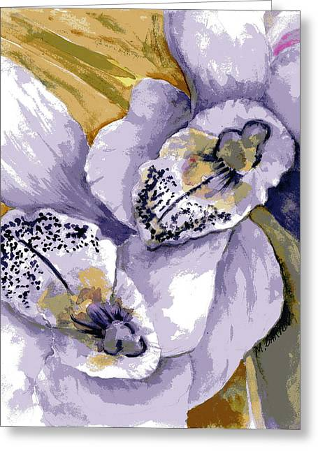 Sweet Orchids Greeting Card by Marilyn Barton