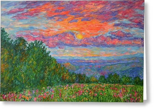 Sweet Pea Morning On The Blue Ridge Greeting Card