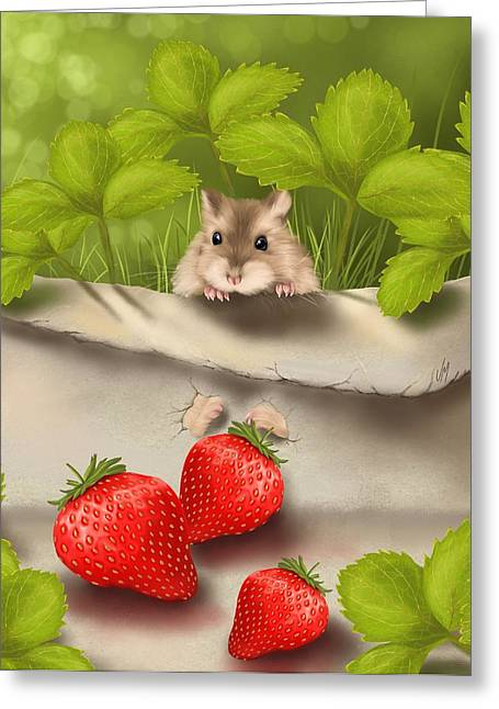 Sweet Surprise Greeting Card by Veronica Minozzi