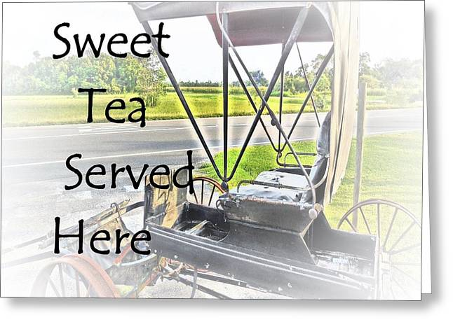 Sweet Tea Served Here Greeting Card by Eloise Schneider