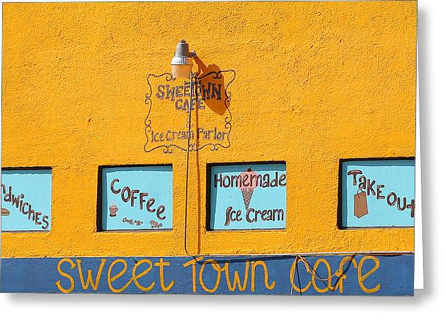 Sweet Town Cafe Greeting Card