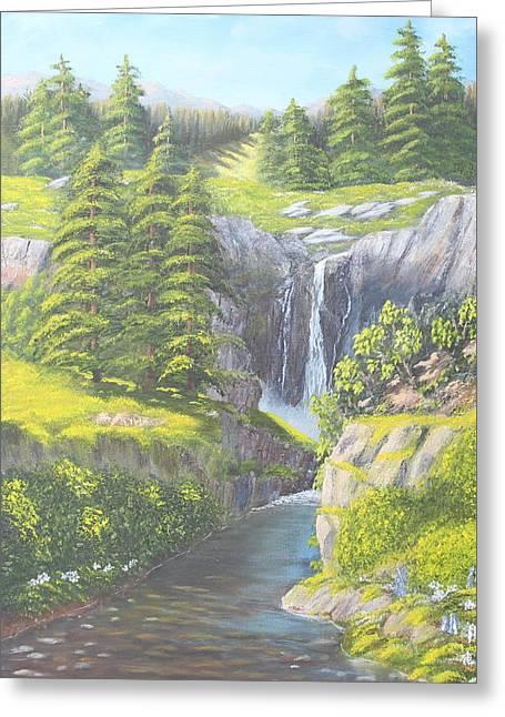 Sweet Water Falls Greeting Card