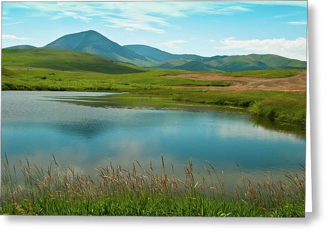 Sweetgrass Hills Fishing Hole Greeting Card