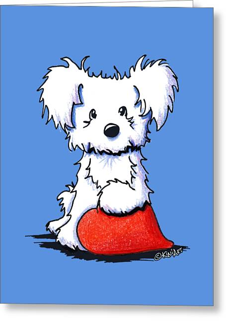 Sweetheart Puppy Greeting Card by Kim Niles