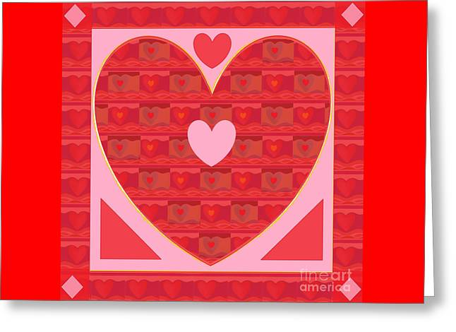 Sweethearts Greeting Card by Helena Tiainen