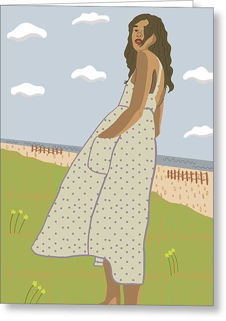 Swept Away Greeting Card
