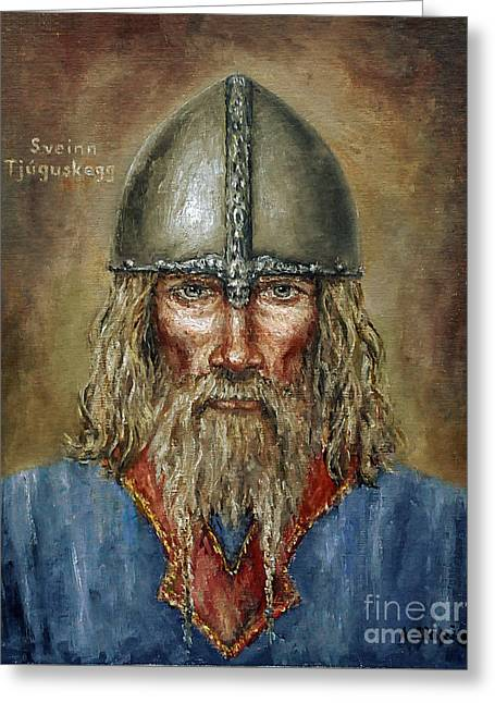 Sweyn Forkbeard Greeting Card by Arturas Slapsys