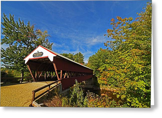 Swift River Bridge Conway Nh Greeting Card by Toby McGuire