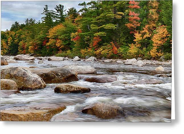 Swift River Runs Through Fall Colors Greeting Card
