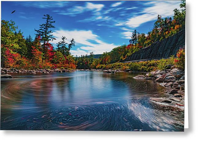 Greeting Card featuring the photograph Swift River Swirls by Chris Lord