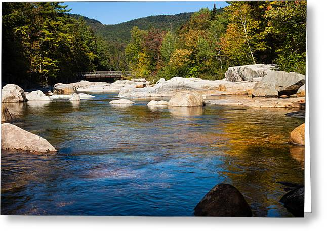Swift River View Greeting Card by Sue OConnor