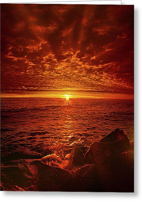 Greeting Card featuring the photograph Swiftly Flow The Days by Phil Koch