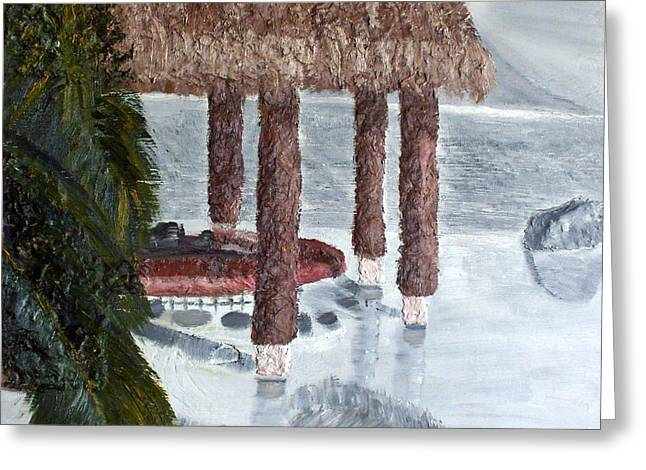 Swim To A Beach Bar Cool Huh Greeting Card by Leslye Miller