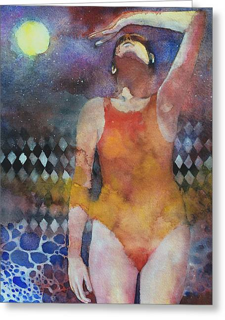 Swimmer Greeting Card by Alessandro Andreuccetti