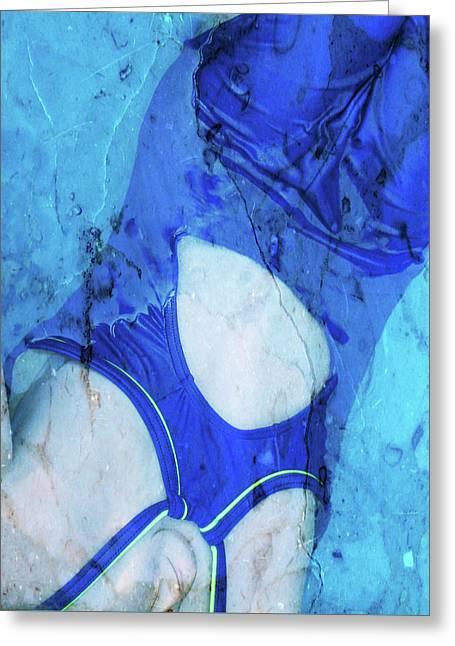 Swimmer In Stone Greeting Card by Lynn-Marie Gildersleeve