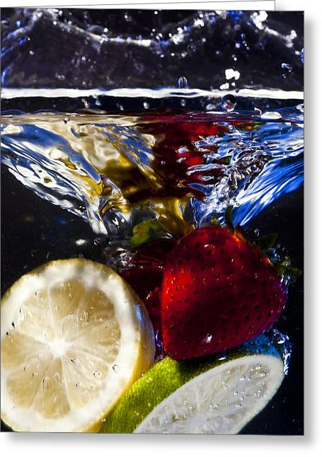 Swimming Fruits Greeting Card