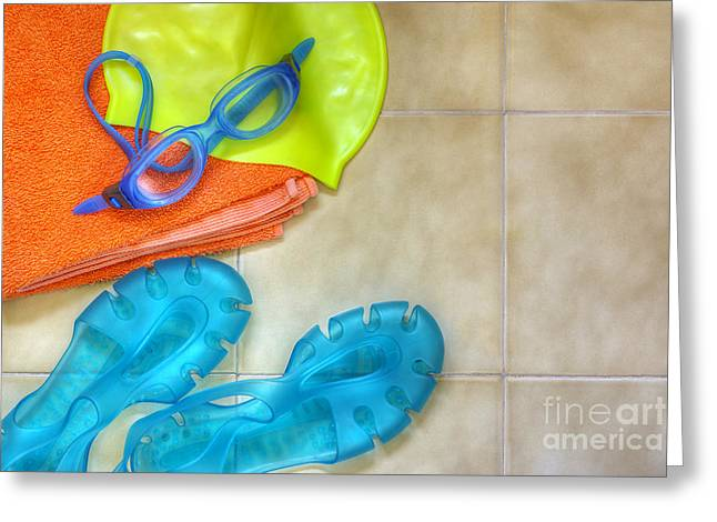 Swimming Gear Greeting Card by Carlos Caetano
