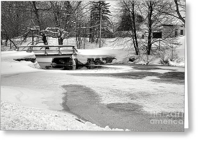 Swimming Hole At Bristol Dam In Winter Greeting Card by Olivier Le Queinec