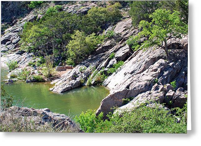 Swimming Hole Greeting Card by Teresa Blanton