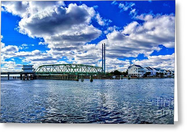 Swing Bridge Heaven Greeting Card