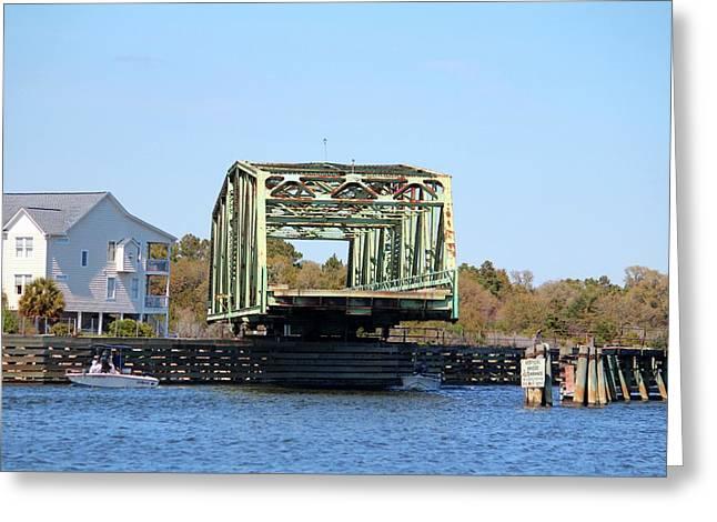 Swing Bridge Opening Greeting Card