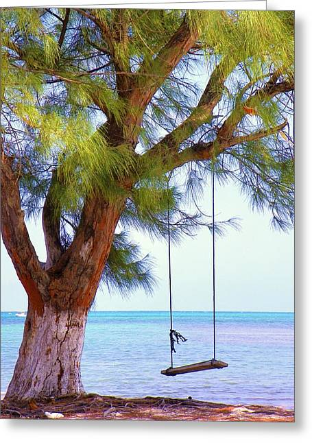 Baby Room Greeting Cards - Swing Me... Greeting Card by Karen Wiles