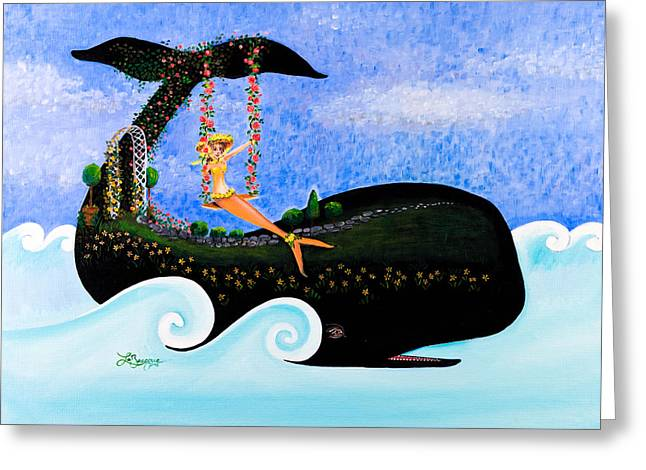 Swing On Whaleback Hill Greeting Card by Theresa LaBrecque