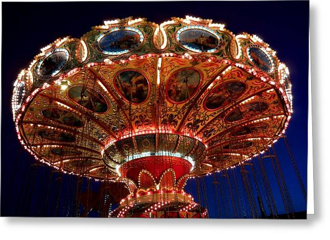 Swing Ride At Jenkinson's Boardwalk At Point Pleasant Beach Greeting Card