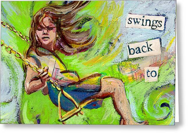 Swing Greeting Card