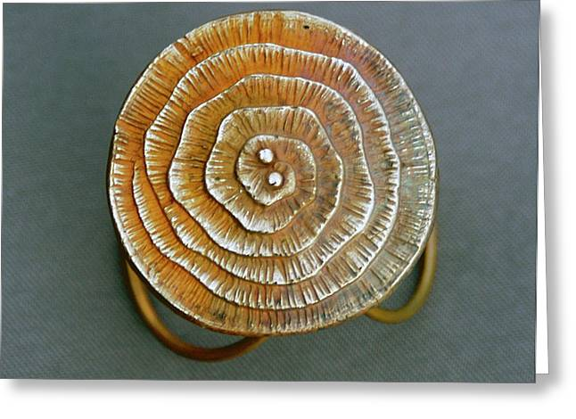 Ring Jewelry Greeting Cards - Swirl Bronze Ring Greeting Card by Mirinda Kossoff