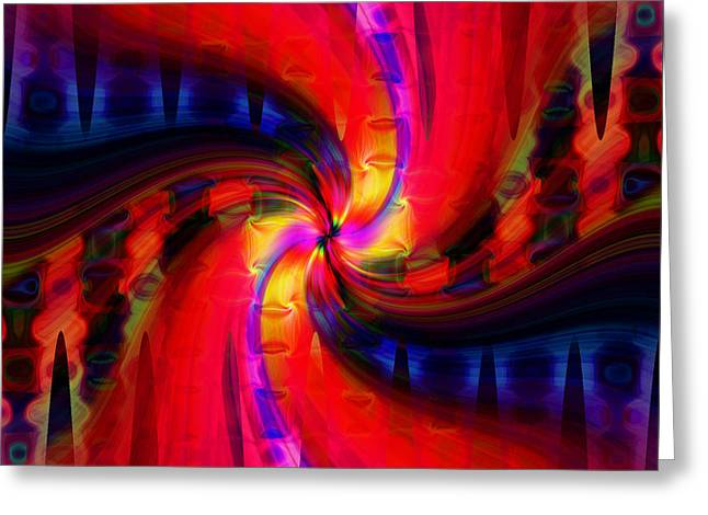 Greeting Card featuring the photograph Swirl Delight by Cherie Duran