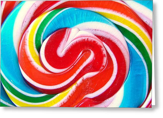 Swirl Of Happiness Greeting Card by Jennifer Lauren