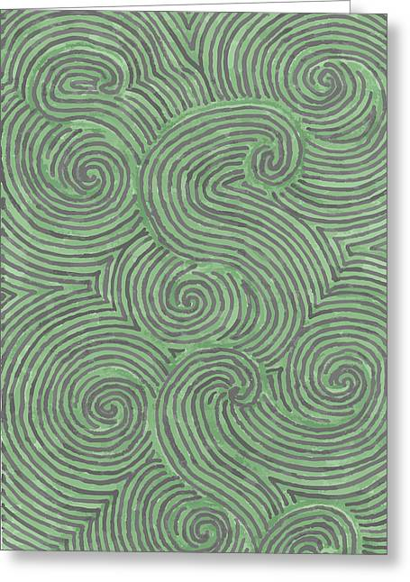Swirl Power Greeting Card