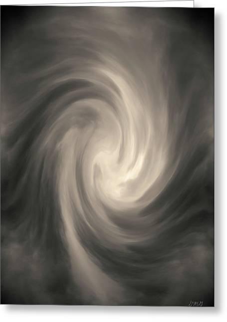 Swirl Wave Iv Toned Greeting Card by David Gordon